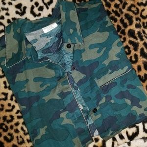 Camo button pj inspired shirt